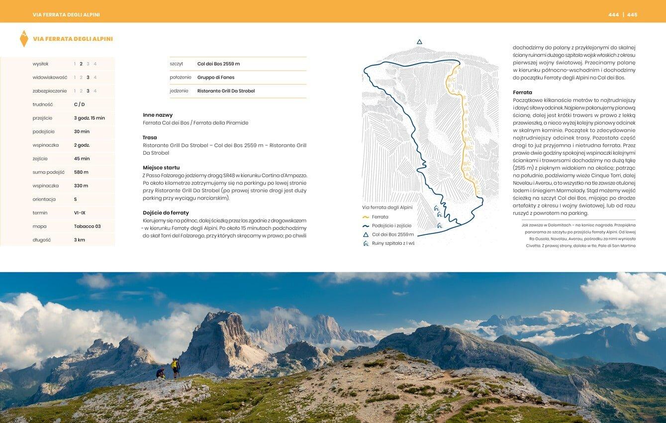 Przewodnik. Ferrata Alpinii. Trasa, opis, skala trudności C/D i nawigacja, jak dotrzeć na miejsce startu.