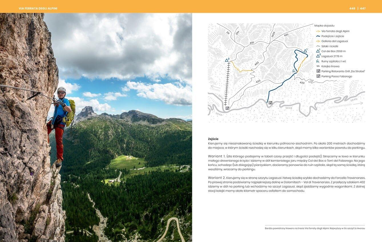 przewodnik. Ferrata Alpinii. Trasa, opis, nawigacja, jak dotrzeć